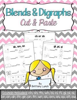 Blends & Digraphs Cut & Paste Printables