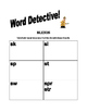 Blends, Digraphs & Diphthongs Word Detective!