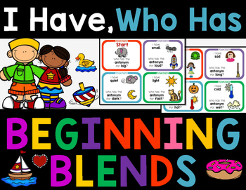 Blends, Digraphs, I Have, Who Has?