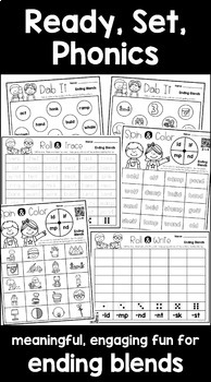 Blends & Digraphs Interactive Activities BUNDLE (First Grade Phonics)