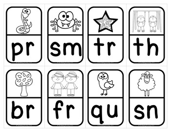 Blends and Digraphs Literacy Center