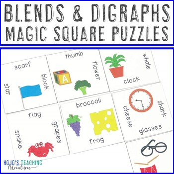 Blends and Digraphs Worksheet Alternatives, Games, or Literacy Centers