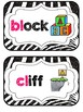 Blends & Digraphs Mini-Reference Posters Color/B&W {Glittery Zebra Theme}