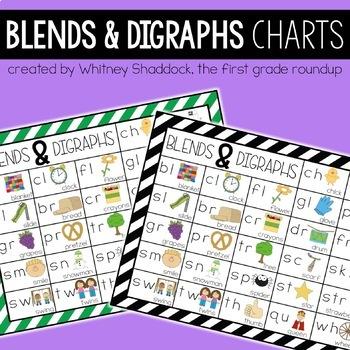 Blends & Digraphs Phonics Charts