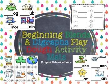 Blends & Digraphs Play Dough Activity Mats