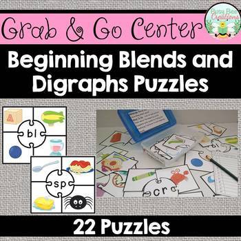Consonant Blends and Digraphs Puzzles