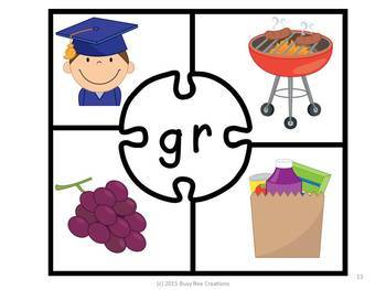 Consonant Blends and Digraphs Puzzles - Phonics Center