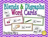 Blends & Digraphs Word Cards