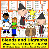 Blends & Digraphs Word Sort by The Teacher's Post