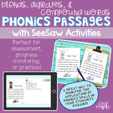 Blends, Digraphs, and Compound Words Phonics Passage Assessments