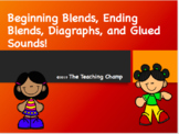 Blends, Digraphs, and Glued Sounds Editable Powerpoint