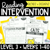 Blends, Digraphs, and Sight Word Reading Intervention