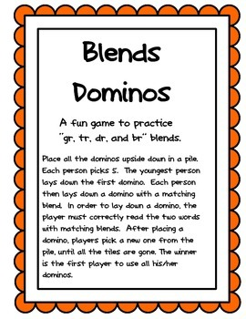 Blends Dominos for br, gr, tr, dr
