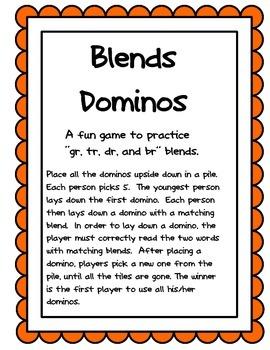 Blends Dominos for br, gr, tr, dr