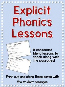 Blends Explicit Phonics Lessons and Decodable Passages