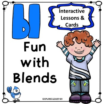 Blends Fun / BL Blend Interactive Matching Cards & Activities / Montessori Style