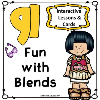 Blends Fun / GL Blend Interactive Matching Cards & Activities / Montessori Style