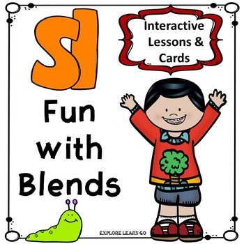 Blends Fun / SL Blend Interactive Matching Cards & Activities / Montessori Style