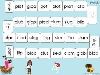 Short Vowel Blends Games with l blends, r blends and s blends