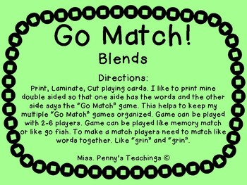 Blends Go Match!