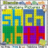 Blends Hundreds Chart Hidden Picture *Integrate Reading with Math*