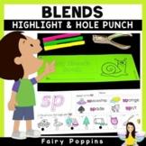 Blends Worksheets- Highlight & Hole Punch