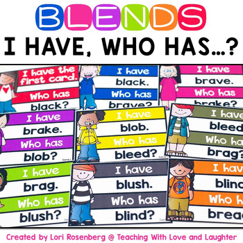 I Have Who Has Game {Blends}