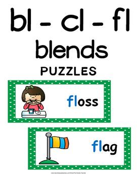 Blends - Initial bl, cl, fl Literacy Centers