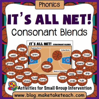 Blends - It's All Net! Consonant Blends Sort