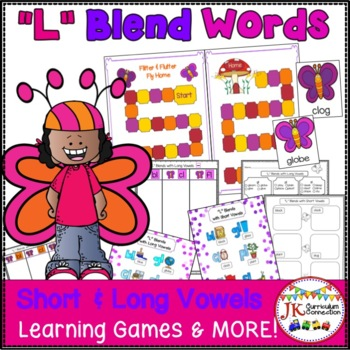 L Blends Game & Literacy Activities {EDITABLE}