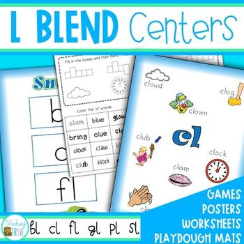 L Blends Worksheet Teaching Resources Teachers Pay Teachers