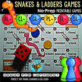 L Blends Game: Snakes and Ladders (bl, cl, fl, gl, pl, sl)