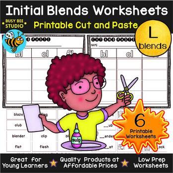 Blends -L- Sorts (bl,cl, fl, gl, pl, sl) | Cut and Paste Worksheets
