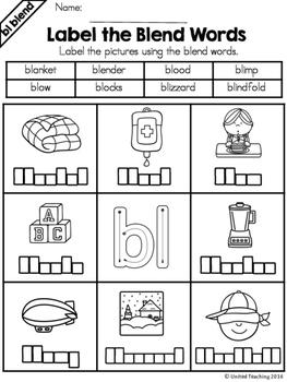 Blends: Label a Blend Word Bundle