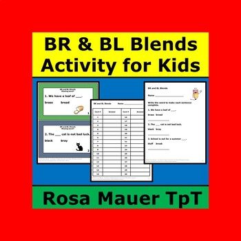BR and BL Blends Task Cards