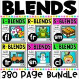 Blends No Prep Printables MEGA BUNDLE includes L Blends, R Blends and S Blends!