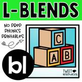 """FREEBIE ~ Blends Phonics NO PREP Printables for """"bl"""""""