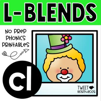 "Blends Phonics NO PREP Printables for ""cl"""
