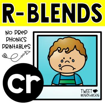 """Blends Phonics NO PREP Printables for """"cr"""""""
