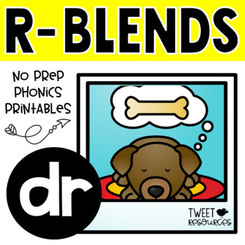 "Blends Phonics NO PREP Printables for ""dr"""