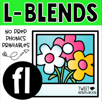 "Blends Phonics NO PREP Printables for ""fl"""