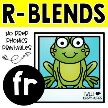 "Blends Phonics NO PREP Printables for ""fr"""
