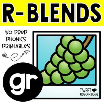 "Blends Phonics NO PREP Printables for ""gr"""