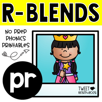 "Blends Phonics NO PREP Printables for ""pr"""