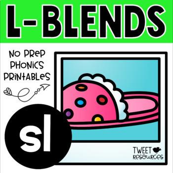 "Blends Phonics NO PREP Printables for ""sl"""