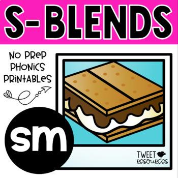 """Blends Phonics NO PREP Printables for """"sm"""""""