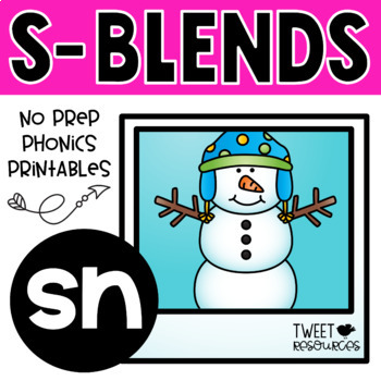 "Blends Phonics NO PREP Printables for ""sn"""