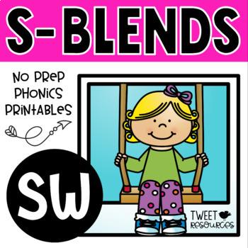 "Blends Phonics NO PREP Printables for ""sw"""