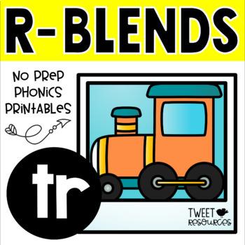 """Blends Phonics NO PREP Printables for """"tr"""""""