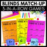 Blends Match-Up - 3 in a Row Games - Kindergarten Literacy